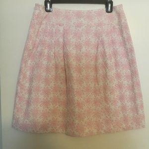 Lilly Pulitzer pink & white eyelet skirt 8